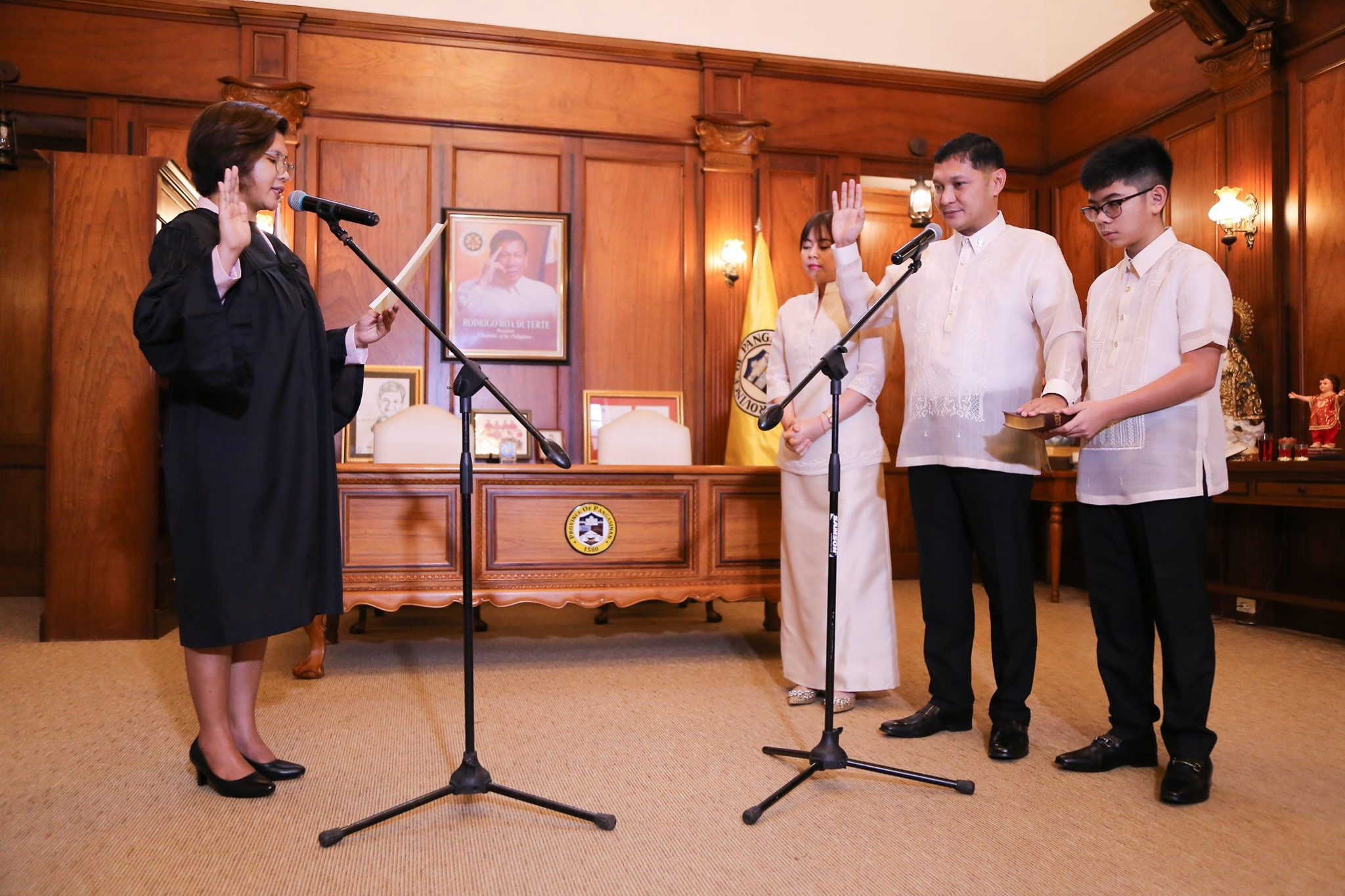 oathtaking of second termer Gov. Espino
